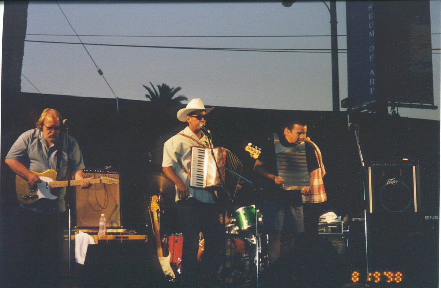 Gaffney and band in Long Beach